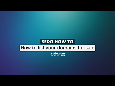 How to list domains for sale at Sedo