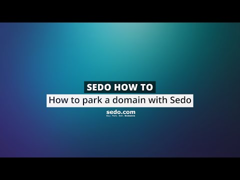 How to park domains at Sedo